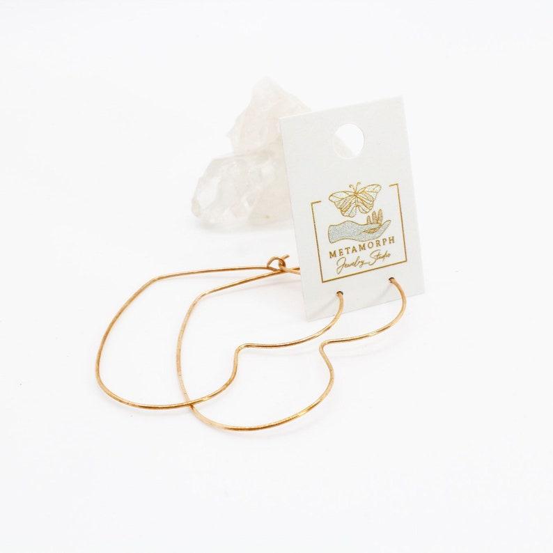 Delicate Heart Hoop Earrings image 0