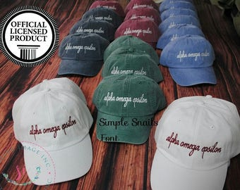 6425f8d0 alpha omega epsilon, Sorority hats, Embroidered Adams Hat, Monogrammed Hat,  Fraternity Hats, Distressed Hat, Personalized Hat, Custom Hat