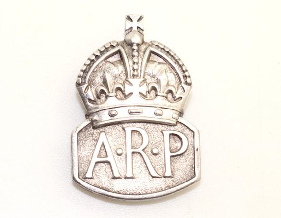 Original ARP Air Raid Precautions Badge 1938 genuine military memorabilia