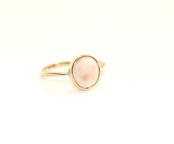 6e4099ef7f325 18ct Gold Angel Skin White CORAL Ring sz K US 5 1/4 Antique Vintage Jewelry  Victoran Edwardian ca1900 Birthday Christmas Gift for Her