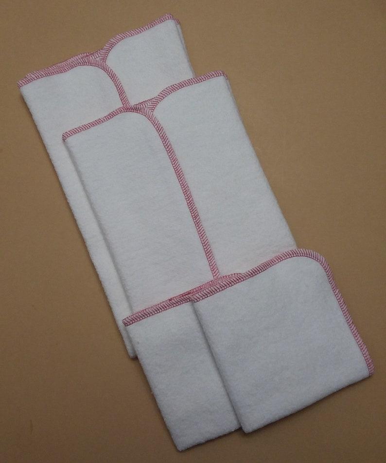 Hemp Organic Cotton Fleece Kitchen Towel Sets Dusty Rose Trim 2 Towels 2 Cloths