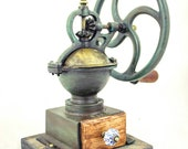 Antique ELMA Coffee Grinder with wheel Spanish Cast-iron Mill Kaffeemuehle Moulin Molinillo Cafe Macinacaffe