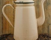 Vintage Enamel Coffee Pot Enamelware Tea Pot Koffiepot Kaffeekanne Theepot Emaille Cafetiere emaillee