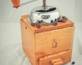 Vintage BIELSKO Coffee Grinder table box Mill C1960 Moulin à Cafe Molinillo Kaffeemühle Koffiemolen