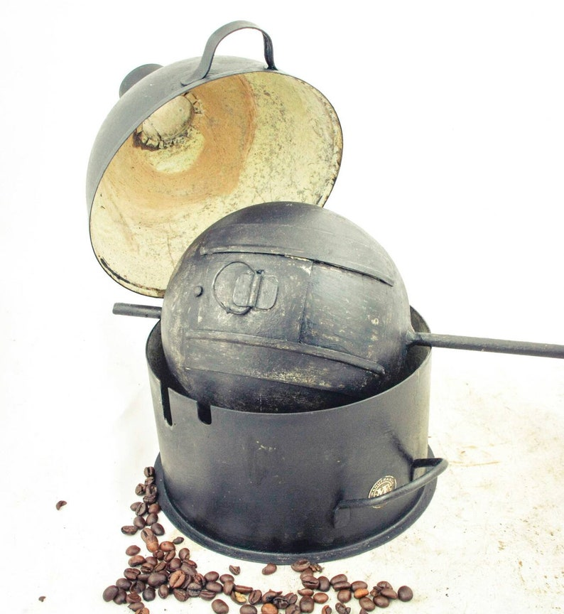 Antique MANUFRANCE Saint-Etienne Coffee Roaster Spherical Hand turned  coffee beans roaster Koffiebrander Grilloir cafe Kaffeeröster