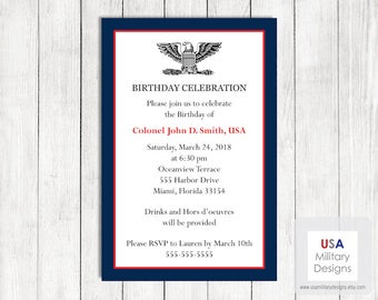 US Army Birthday Invitation Printable Military