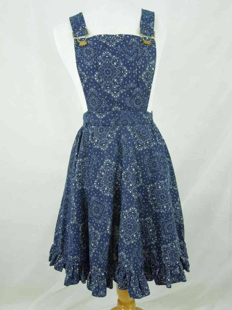 b435caedd0 Vintage Bibbed Dress. Partners Please Malco Modes of San
