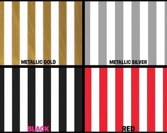 "GOLD METALLIC STRIPES Design Tissue Paper Sheets 15/"" x 20/"" Choose Package Amount"