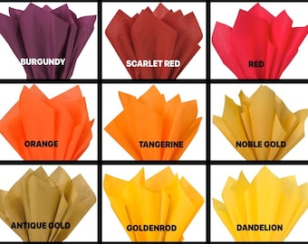 Premium Colored Crepe Paper Yellow - Orange Top Quality Italian Paper Craft