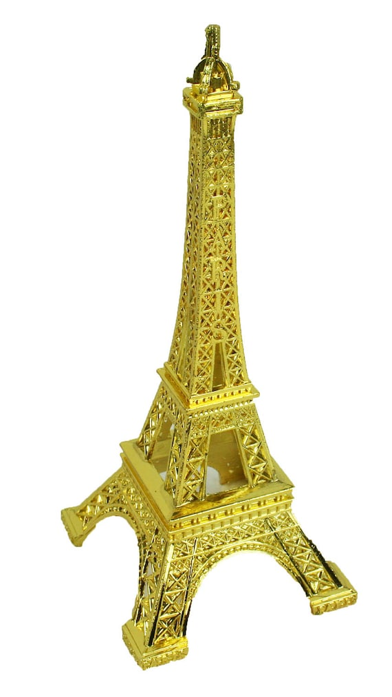 GOLD Eiffel Tower Paris France Metal Stand Model For Table | Etsy