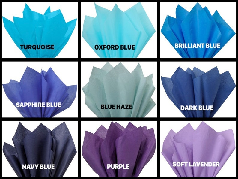 OMBRE FLOWERS Design VOGUE Size 16x6x12 Bag With Choice of Tissue Paper Color and Package amount