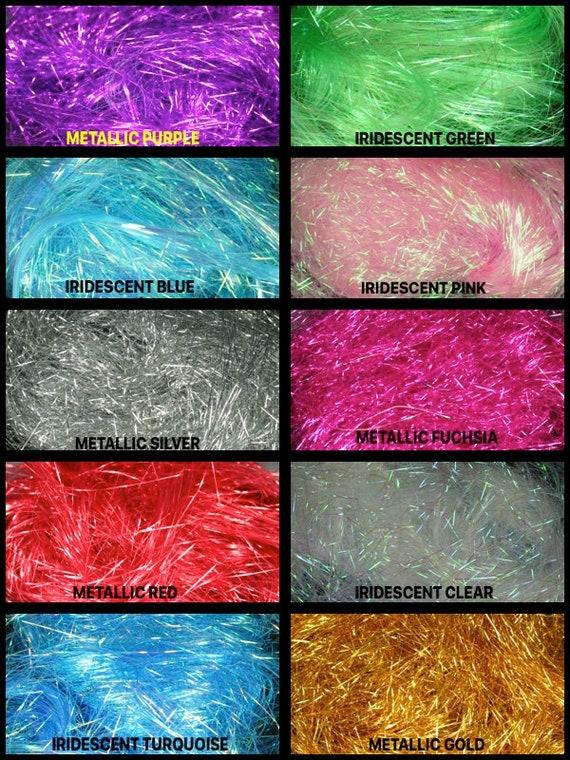 Iridescent Blue Purple Angel Hair Tinsel Shred Gift Basket Filler Packaging BULK