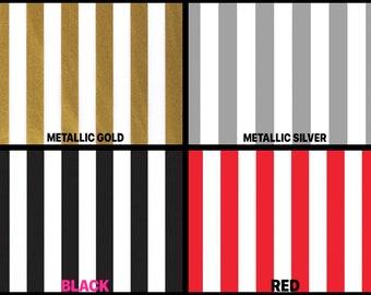 "STRIPE Design Print Gift Grade Tissue Paper Sheets - 15"" x 20"" Choose Color & Package Amount"