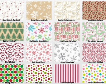 """HOLIDAY Print Gift Grade Tissue Paper Sheets - 15"""" x 20"""" Choose Print & Package Amount"""