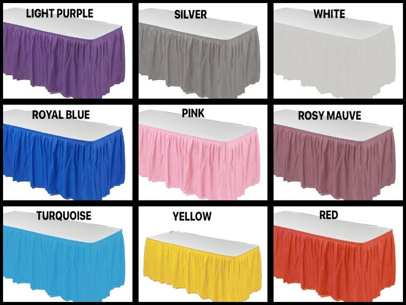 "14/' x 29/"" Pleated Plastic Table Skirt"