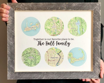Father Gift Family Travels Print Birthday For Dad From Daughter Fathers Day Ideas Sentimental Travel Memories