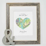 Personalized Engagement Gift,  Where it all began map print, Engagement Gift, Wedding Gift, Customized Wedding Gift for Couple, Gift for Her