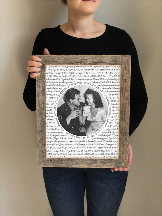 Parents 25th 40th 50th Anniversary Photo Picture Frame, 50th Anniversary Gifts Parents Anniversary Gift For All That You Have Been To Us