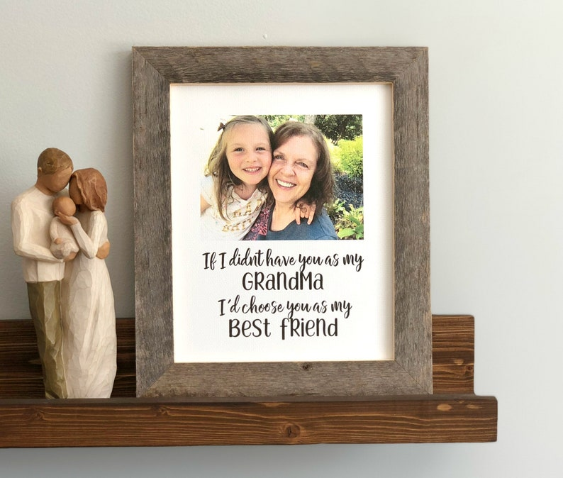 Grandma Gift Birthday For From Grandkids Picture Frame Nana Mimi Present Sign