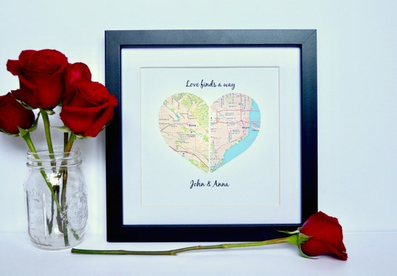 Bridal Shower Gift Wedding Shower Gift Ideas Gift For Bride Unique Gift For Couple Wedding Gifts Personalized Gift Shower Gift Map