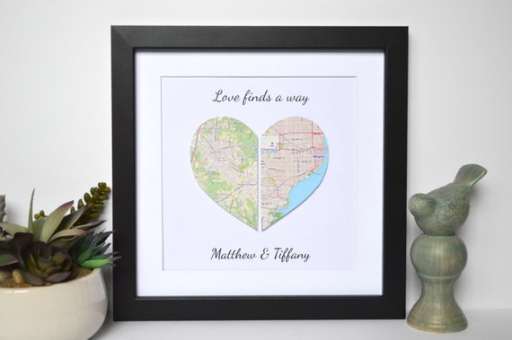 Long Distance Relationship Gift Love Finds A Way Unique Gift Etsy