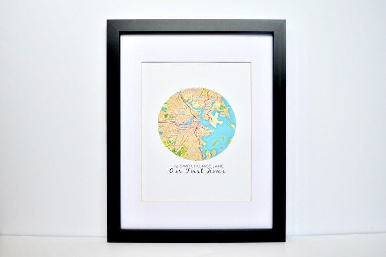 Map Print First Home Gift Closing Gift Unique Housewarming Etsy