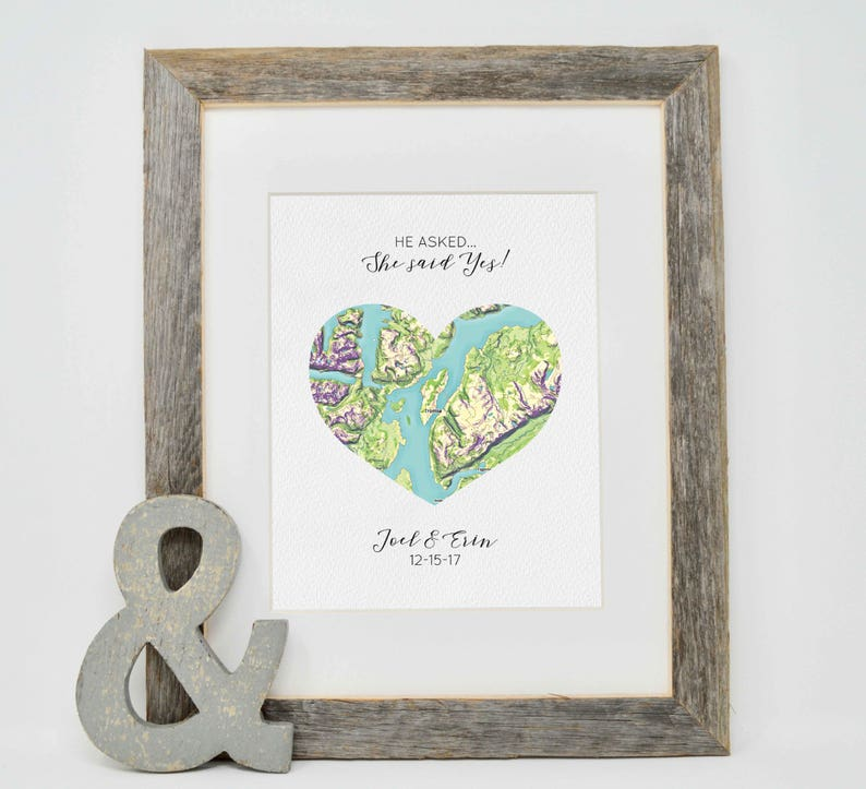 Engagement Gift Engagement Location Gift Where It All Began Etsy
