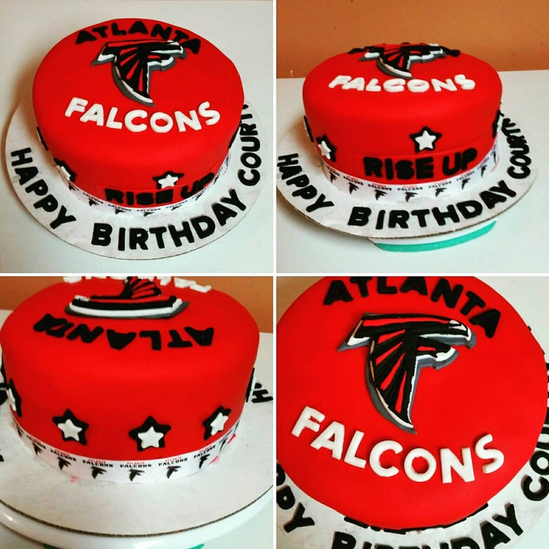 NFL Atlanta Falcons Fondant Cake Set