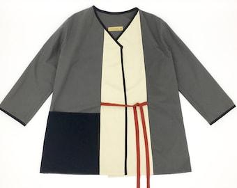 Kimono jacket grey