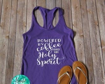 Powered by Coffee & the Holy Spirit-Women's Tank Top