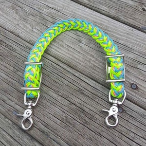 Custom paracord braided wither strap and thick barrel rein combo