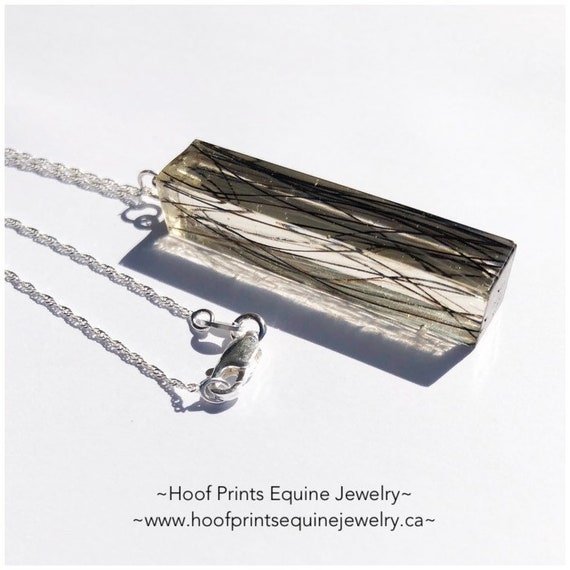 Memorial ashes solid silver necklace or charm pet loss deceased memory remember dog horse shoe cat cremation