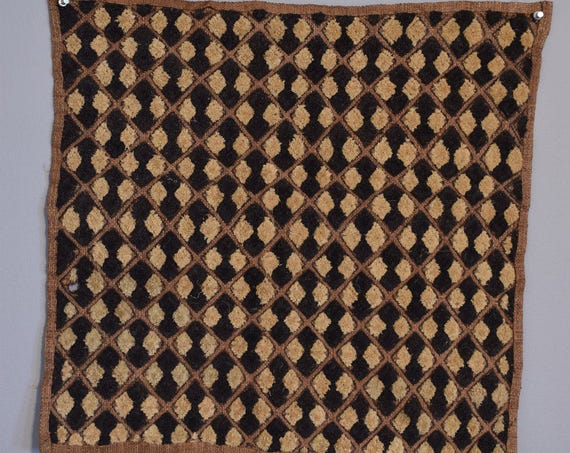 Kuba Cloth African Natural Woven Raffia Zaire Handmade Fabric Women's Cloth Skirts Kuba Cloth