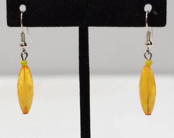 Earrings Faux Amber Acrylic Earrings