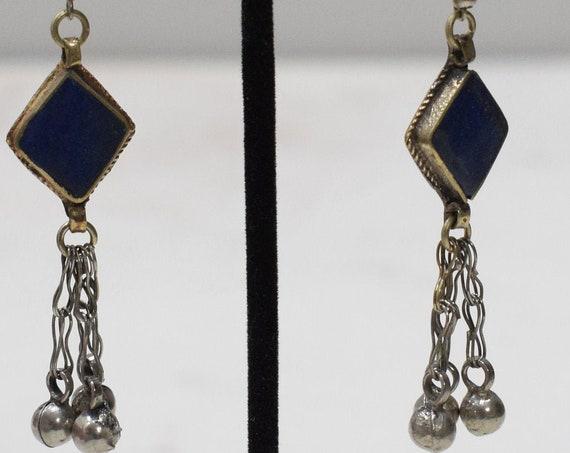 Earrings Afghanistan Lapis Dangle Earrings