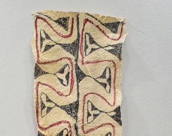 "Papua New Guinea Barkcloth Ceremonial Baining Cloth Tapa Cloth 57"""
