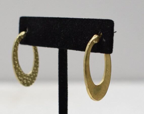 Earrings Gold Textured Post Earrings