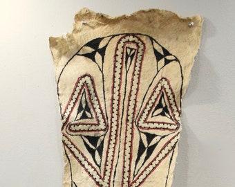 Papua New Guinea Ceremonial Baining Tapa Cloth