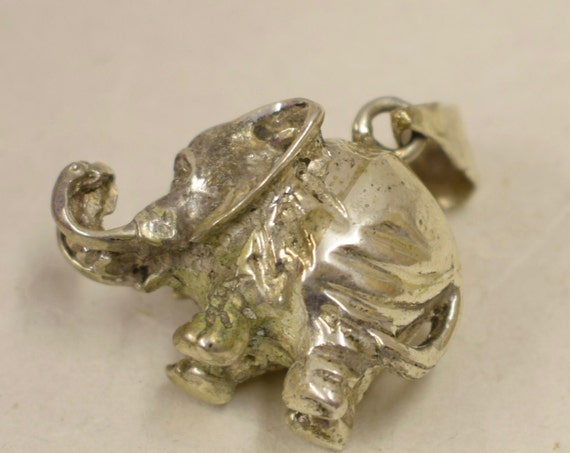 Pendant  Elephant Sterling Silver Handmade Sterling Silver Elephant Pendant Good Luck Necklace Jewelry Pendant Fun Unique