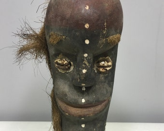 Papu New Guinea Mask Tago Tami Islands Wood Ancestor Ghost Ceremonial Mask