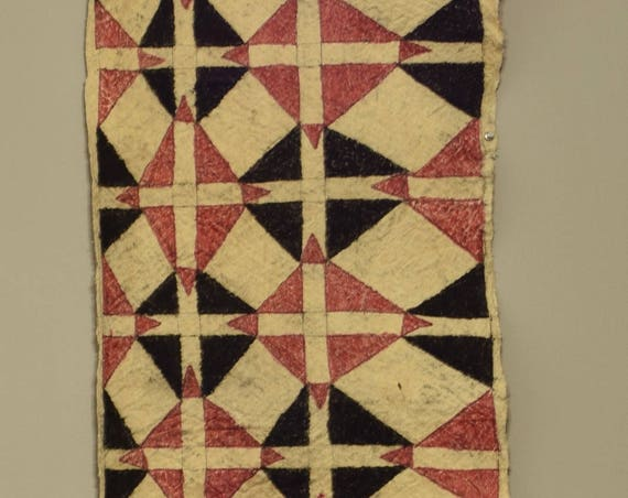 "Papua New Guinea Barkcloth Ceremonial Baining Cloth Dances Baining Tapa Cloth 77"""
