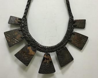 Necklace Philippine Ifugao Tribal Wood Rattan Necklace