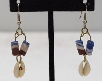 Earrings African Cowie Shell Earrings