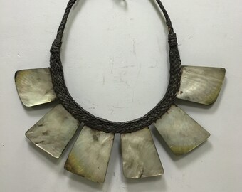 Necklace Philippine Ifugao Tribal Shell Rattan Necklace