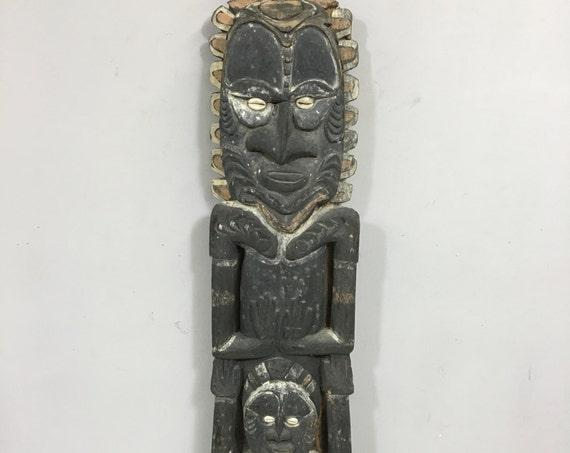 "Papua New Guinea Totem Figure Wood Iatmul Ancestor Guardian Rituals Objects Totem 30  1/2"""