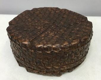 Basket Rattan Ifugao Tribe Philippines Rice Basket Handmade Woven Rattan Bamboo Basket Household Rice Food Storage Containers Coiled Unique