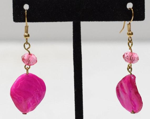 Earrings Pink Shell Dangle Earrings