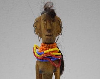 African Samburu Wood Fertility Married Status Doll