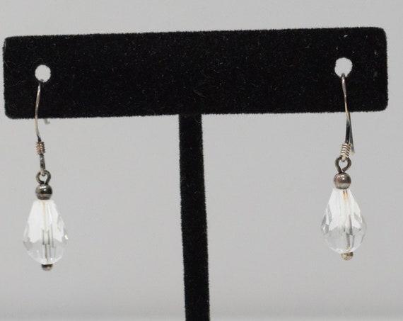 Earrings Sterling Silver Crystal Earrings