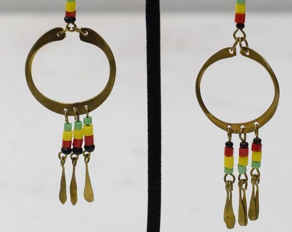 Earrings African Brass Hoop Earrings